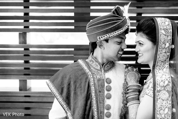 Black & White Portraits in Dallas, TX Indian Wedding by VEK Photo
