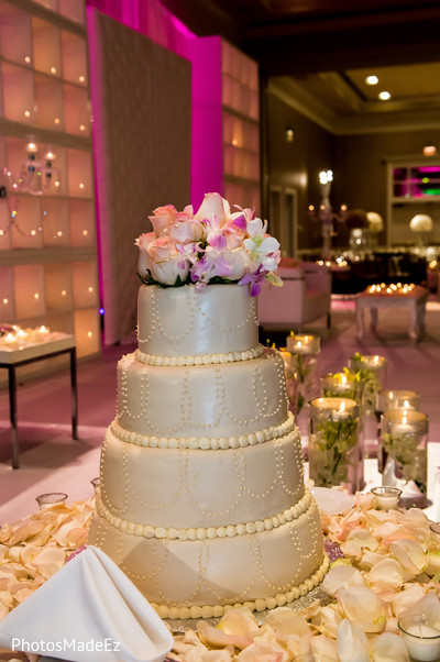 Wedding cake in Long Island, NY Indian Wedding by PhotosMadeEz