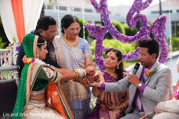Ceremony in Yorba Linda, CA Indian Wedding by Lin and Jirsa Photography