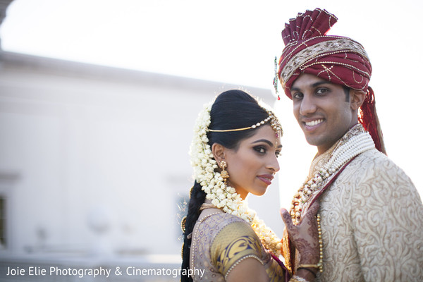 Wedding portraits in Somerset, NJ Indian Wedding by Joie Elie Photography & Cinematography