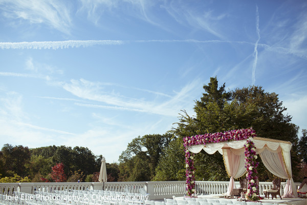 Floral & Decor in Somerset, NJ Indian Wedding by Joie Elie Photography & Cinematography
