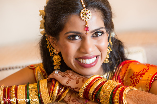 Portraits in Laguna Beach, CA South Indian Wedding by Global Photography