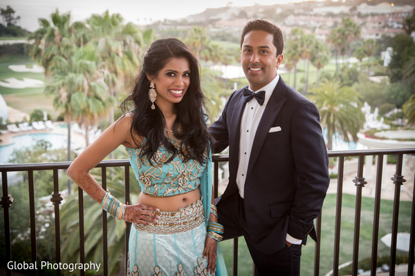 Reception in Laguna Beach, CA South Indian Wedding by Global Photography