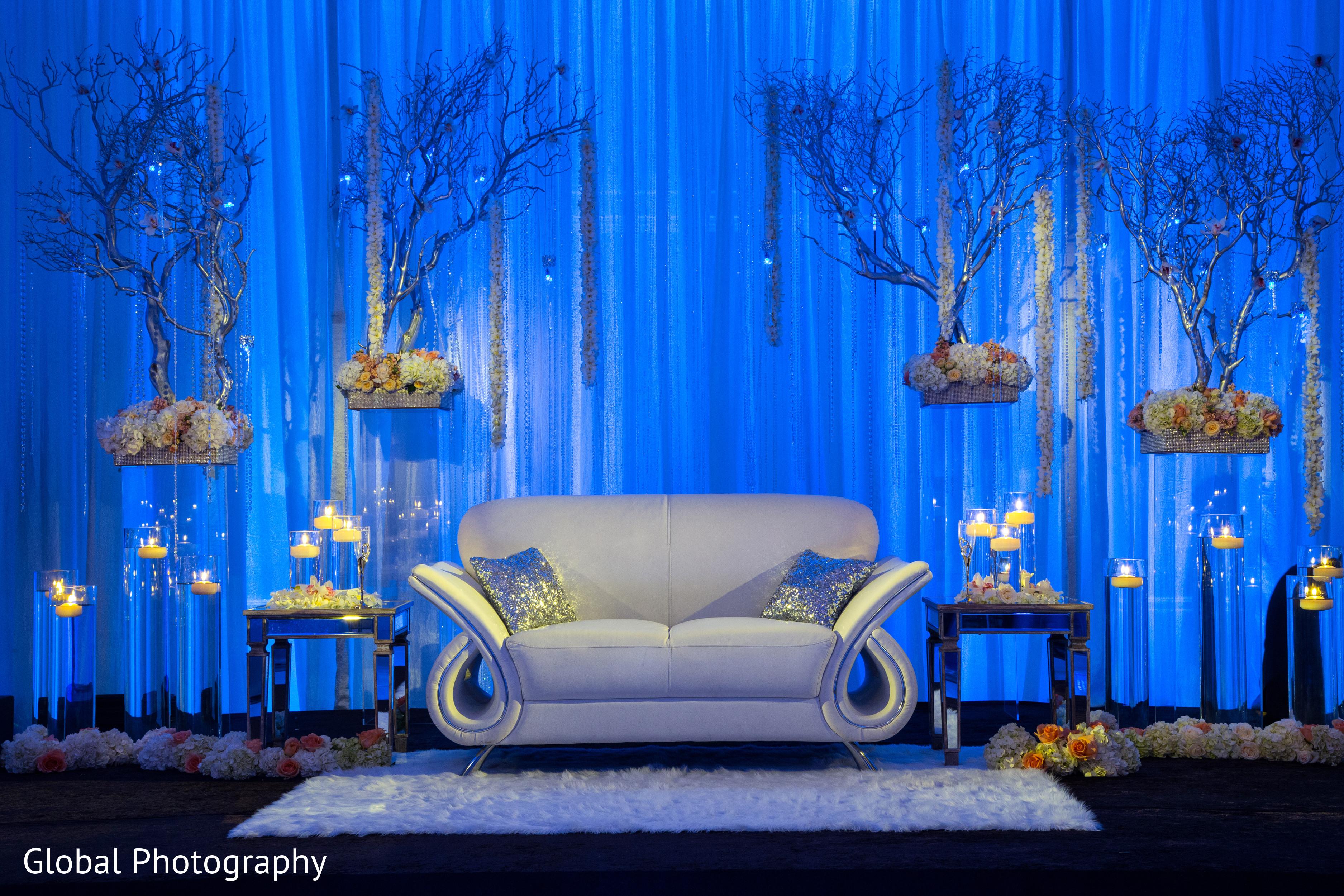 Blue Wedding Stage Decoration Wwwimgkidcom The Image