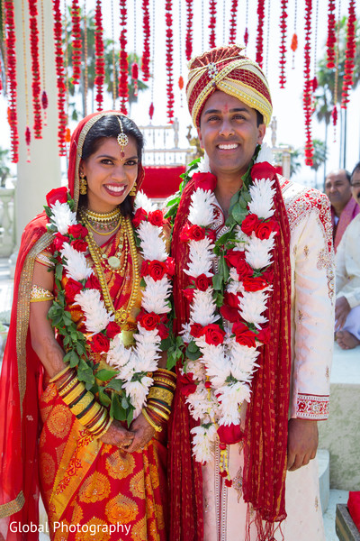 Ceremony in Laguna Beach, CA South Indian Wedding by Global Photography