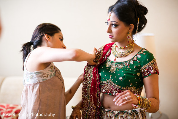 Getting Ready in Chicago, IL Indian Wedding by Joseph Kang Photography