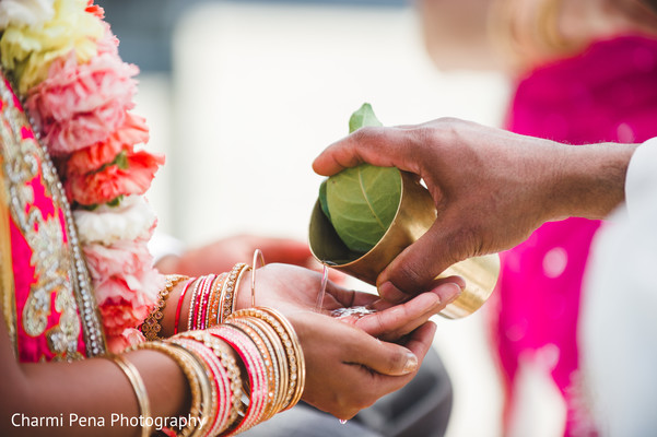 Ceremony in Nassau, Bahamas Indian Wedding Charmi Pena Photography