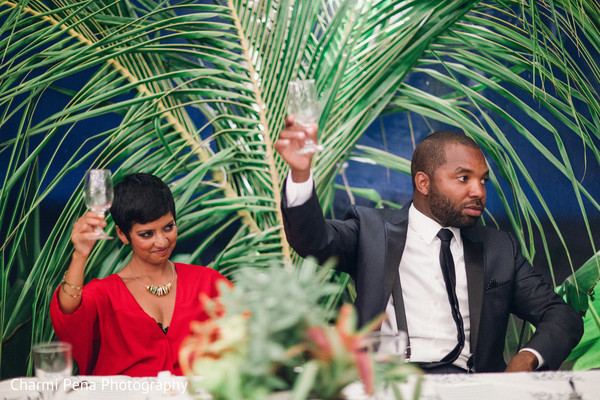 Reception in Nassau, Bahamas Indian Wedding Charmi Pena Photography
