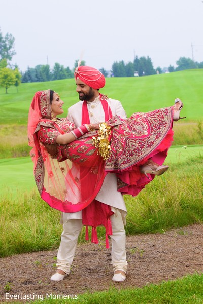 outdoor indian wedding portraits