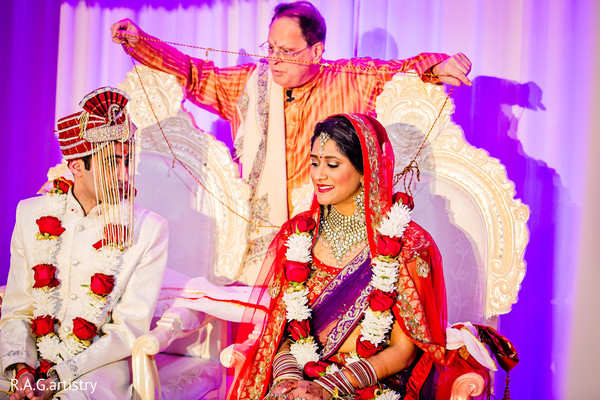 Ceremony in Atlanta, GA Indian Wedding by R.A.G. Artistry