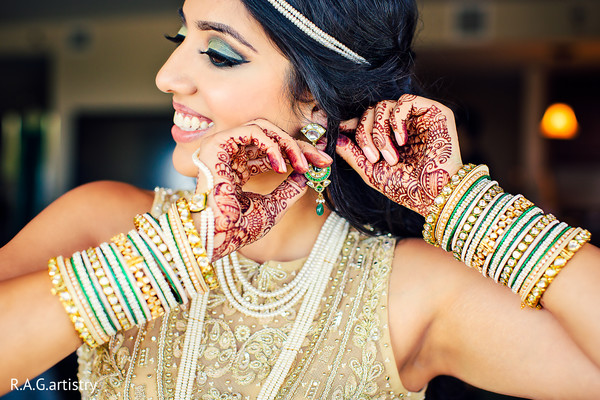 Getting Ready in Athens, GA Indian Wedding by R.A.G. Artistry