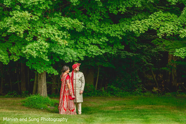 Wedding portraits in Pearl River, NY Indian Wedding by Manish and Sung Photography