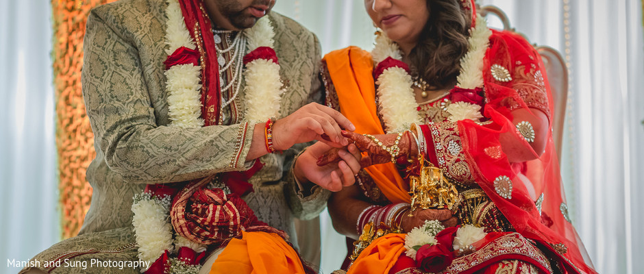 Ceremony in Pearl River, NY Indian Wedding by Manish and Sung Photography