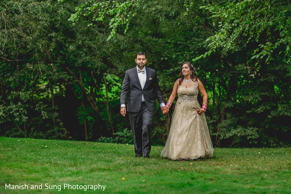 Reception portraits in Pearl River, NY Indian Wedding by Manish and Sung Photography