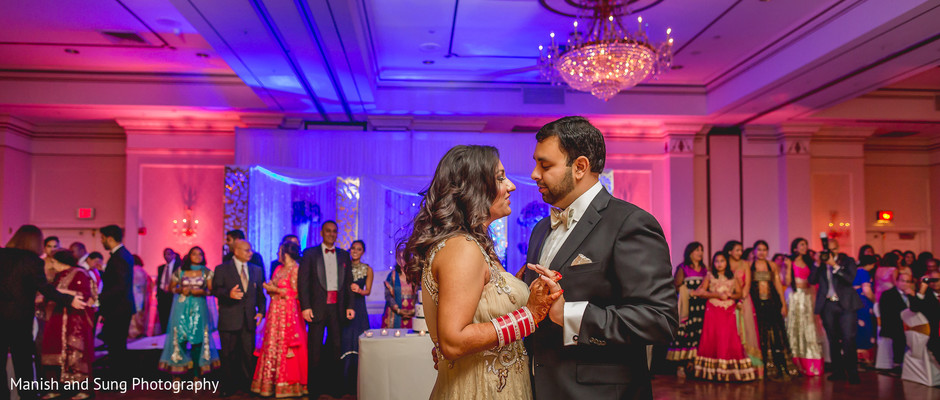 Reception in Pearl River, NY Indian Wedding by Manish and Sung Photography