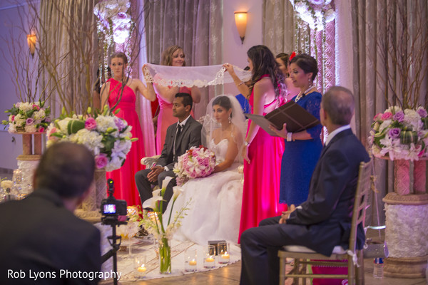 Ceremony in Memphis, TN Indian Fusion Wedding by Rob Lyons Photography