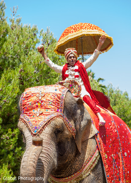 Baraat in Laguna Beach, CA South Indian Wedding by Global Photography