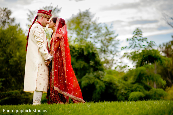 First look in Falls Church, VA Indian Fusion Wedding by Photographick Studios