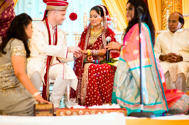 Ceremony in Falls Church, VA Indian Fusion Wedding by Photographick Studios
