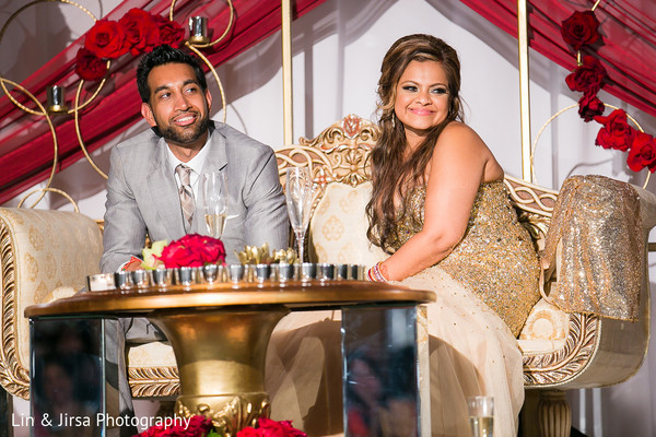 Reception in Newport Beach, CA Indian Wedding by Lin & Jirsa Photography