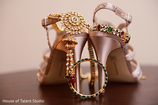 Shoes and jewelry in Mahwah, NJ Indian Wedding by House of Talent Studio