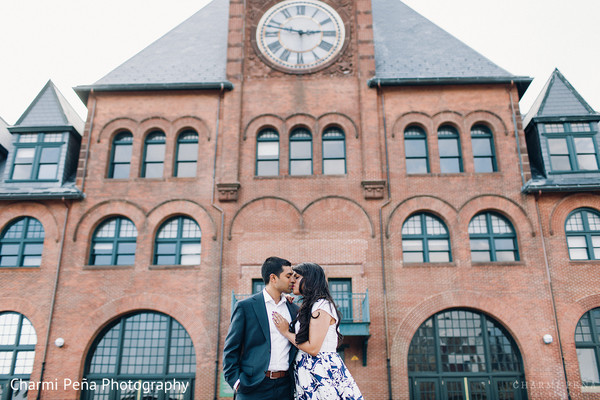 Engagement in Jersey City, NJ Indian Engagement by Charmi Peña Photography