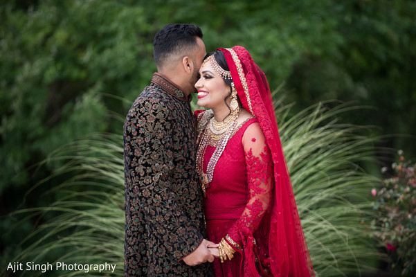 First Look in Long Island, NY Indian Wedding by Ajit Singh Photography