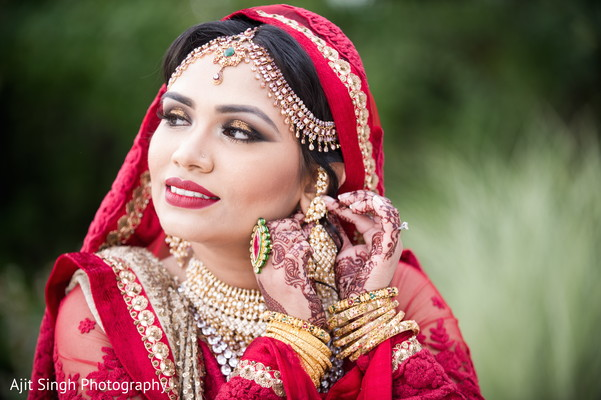 Bridal portraits in Long Island, NY Indian Wedding by Ajit Singh Photography