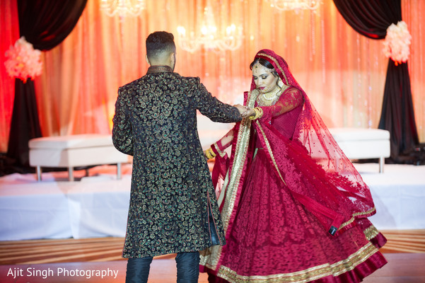 Reception in Long Island, NY Indian Wedding by Ajit Singh Photography