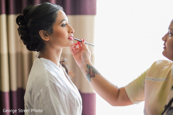 Getting ready in Fairfax, VA Indian Wedding by George Street Photo