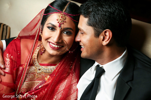 Reception portraits in Fairfax, VA Indian Wedding by George Street Photo
