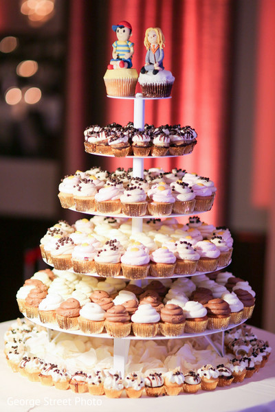 Cupcake tower in Fairfax, VA Indian Wedding by George Street Photo