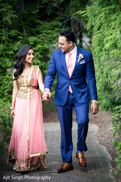 Reception Portraits in Mahwah, NJ Indian Wedding by Ajit Singh Photography