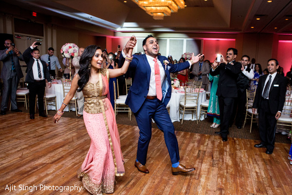 Reception in Mahwah, NJ Indian Wedding by Ajit Singh Photography