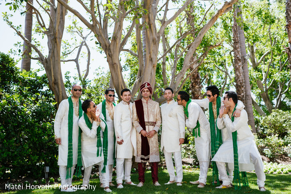 Groom's party portraits in Newport Beach, CA Indian Wedding by Matei Horvath Photography