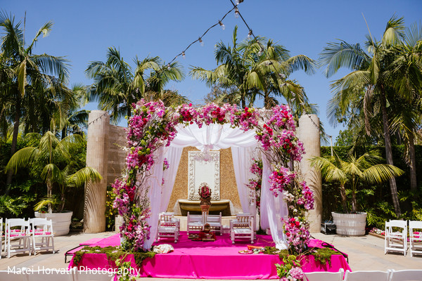 Floral & Decor in Newport Beach, CA Indian Wedding by Matei Horvath Photography