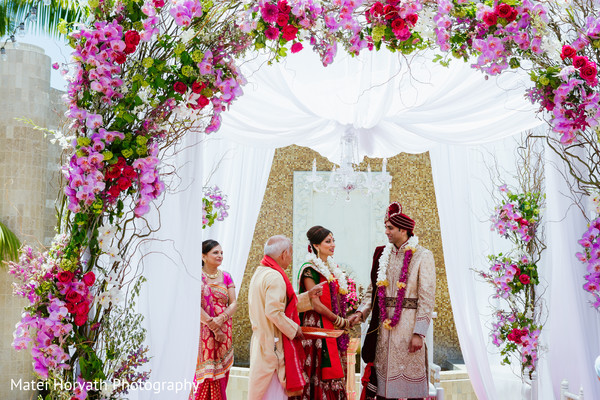 Ceremony in Newport Beach, CA Indian Wedding by Matei Horvath Photography