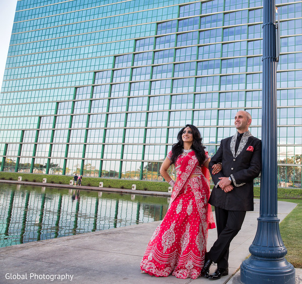 Reception portraits in Long Beach, CA Indian Wedding by Global Photography