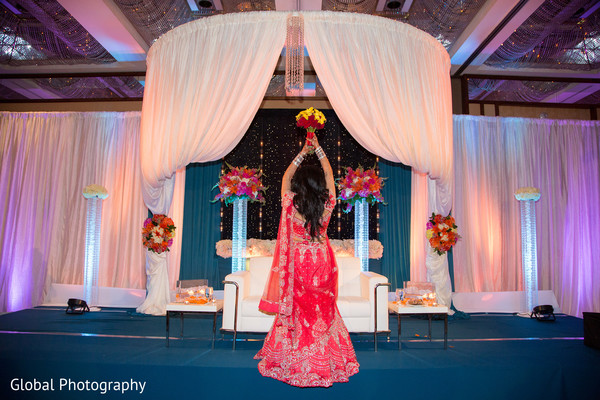 Reception in Long Beach, CA Indian Wedding by Global Photography