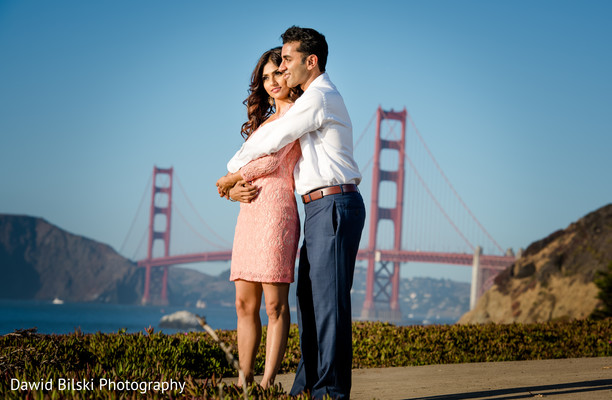 Engagement Portraits in San Francisco, CA Indian Engagement by Dawid Bilski Photography