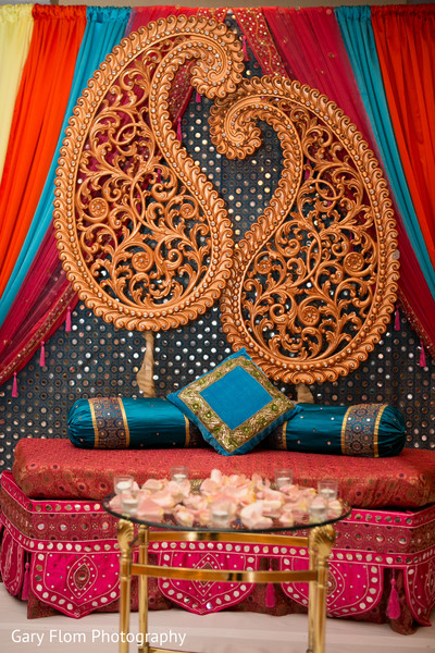 Decor in Mahwah, NJ Indian Wedding by Gary Flom Photography