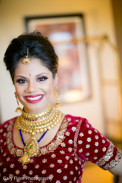 Bridal Jewelry in Mahwah, NJ Indian Wedding by Gary Flom Photography