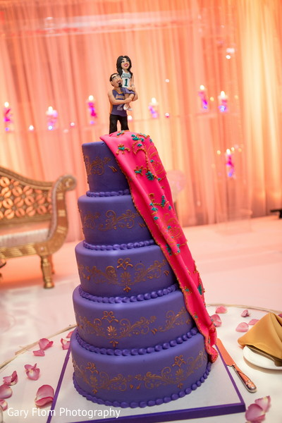 Wedding Cake in Mahwah, NJ Indian Wedding by Gary Flom Photography