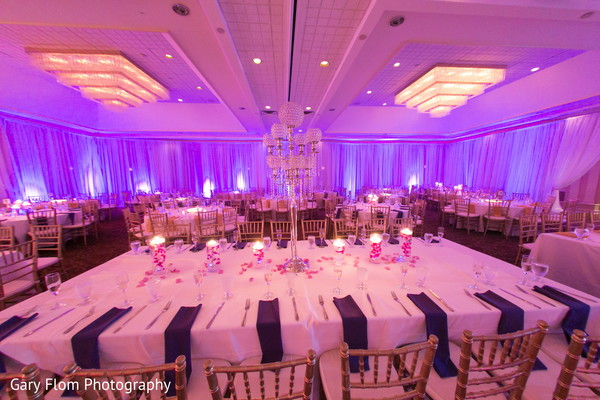 Reception Decor in Mahwah, NJ Indian Wedding by Gary Flom Photography