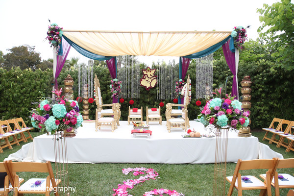 Ceremony in San Diego, CA Indian Wedding by Harvard Photography