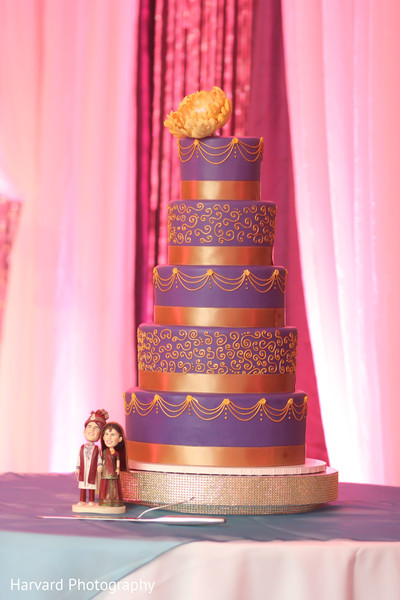 Wedding Cake in San Diego, CA Indian Wedding by Harvard Photography