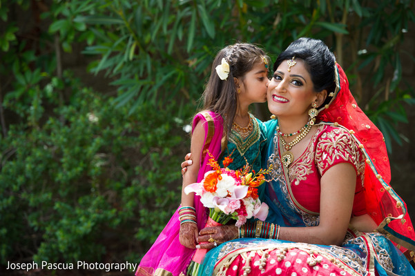 Bridal portrait in Livemore, CA Indian Wedding by Joseph Pascua Photography