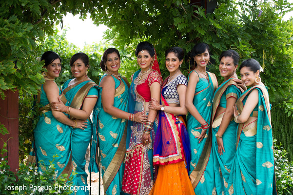 Bridal party portraits in Livemore, CA Indian Wedding by Joseph Pascua Photography
