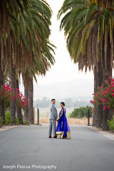 Reception portraits in Livemore, CA Indian Wedding by Joseph Pascua Photography