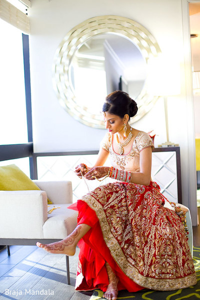 Getting Ready in Birmingham, AL Indian Wedding by Braja Mandala Wedding Photography